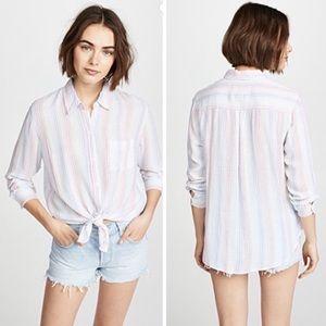 Rails Charli Isla Candy-Striped Long-Sleeve Shirt